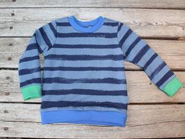 Sweatshirt Streifen blau/grün