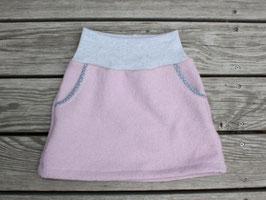 Wollwalkrock rosa-grau mit Taschen
