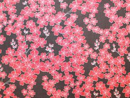 Blumen braun-rot Baumwollstoff