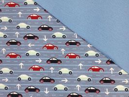 Schlafanzug Autos blau-rot