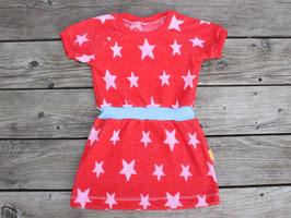 Frotteekleid Sterne rot