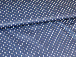 Anker dunkelblau Popeline Baumwollstoff