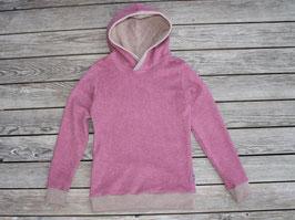Kapuzenpulli Bio-Baumwollfleece rosa