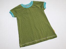 T-Shirt Punkte grün-türkis