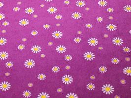 Stretchfrottee Prilblumen lila-gelb