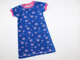 Frotteenachthemd/Sommerkleid kurzarm  Prilblumen blau-pink
