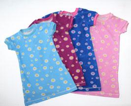 Frotteenachthemd/Sommerkleid kurzarm Prilblumen rosa