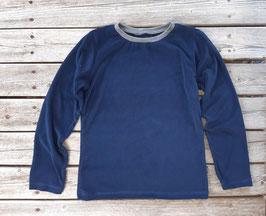 Langarmshirt Frottee dunkelblau