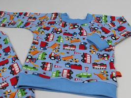 Schlafanzug Baustellenfahrzeuge blau
