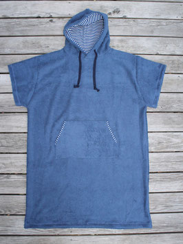 Surfponcho Frottee dunkelblau