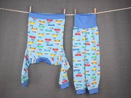 Schlafanzug Busse blau