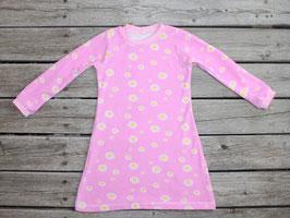Frotteenachthemd langarm Blumen rosa
