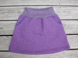 Wollwalkrock lila mit Taschen