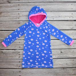 Strandüberzieher Frottee Prilblumen blau-pink