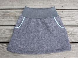 Wollwalkrock grau meliert mit Taschen