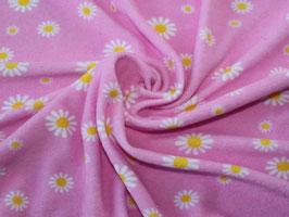 Stretchfrottee Prilblumen rosa-gelb