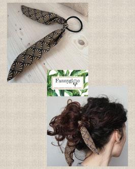 """Elastique-foulard pour cheveux """"Upcycling"""""""