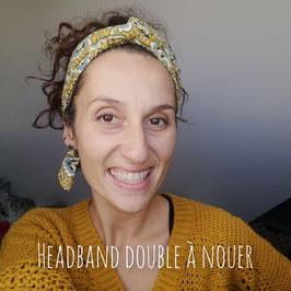 Bandeau cheveux femme / Headband double / Ceinture foulard sur mesure