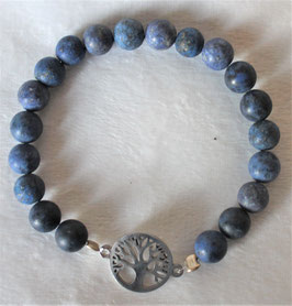 Dumortirit-Armband mit Lebensbaum