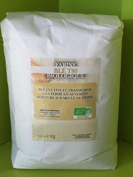 Farine de blé bio T80
