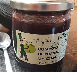 Compote pomme myrtille