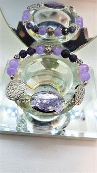 bracelet amethyste fleur de vie