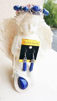 parure lapis lazuli 3 pieces