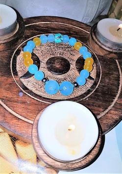 bracelet cacedoine bleu et jaune