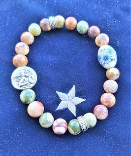 bracelet ryolite perle ange