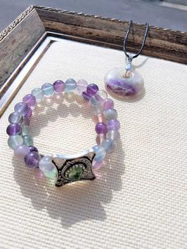 parure fluorite donus bracelet