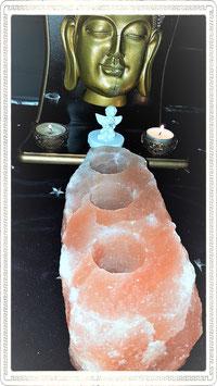 bougeoir 3 bougies sel himalaya (2k370g)