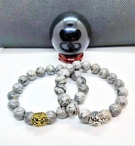 bracelet jaspe picasso tete de lion