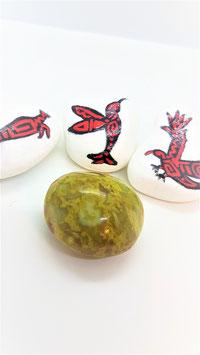 pierre rouler opale verte