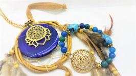 creations agate bleue fleur de vie