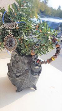 pendentif bracelet pierre brute pietersite