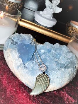 pendentif aile d'ange pyrite