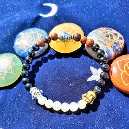 bracelet tourmaline 3 bouddha