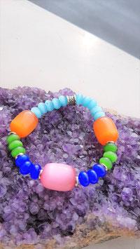 bracelet oeil de chat perle tonneau rondelle