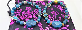 bracelet apatite perle metal cadre