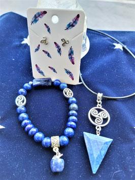 creations lapis lazuli celtique
