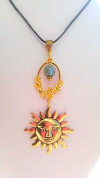 collier du soleil perle labradorite