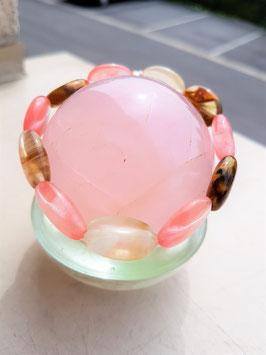 bracelet tourmaline melon d'eau