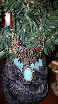 collier indien pierre turquoise