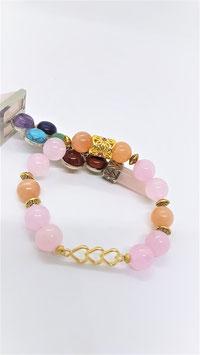 bracelet quartz rose quartz cerise
