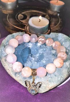 bracelet agate fleur de cerisier
