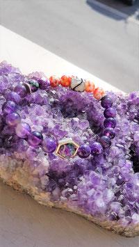 bracelet amethyste jaspe
