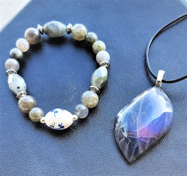 créations labradorite pendentif bracelet