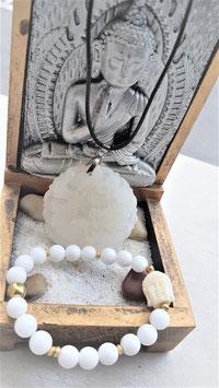 pendentif jade blanc dragons bracleet bouddha jade blanc