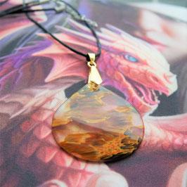 collier pendentif quartz cerise