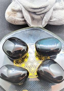 obsidienne oeil celeste pierre rouler  2,5 cm / 15 g